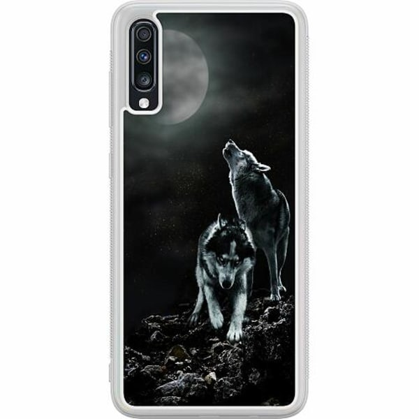 Samsung Galaxy A70 Soft Case (Frostad) Howling Wolves