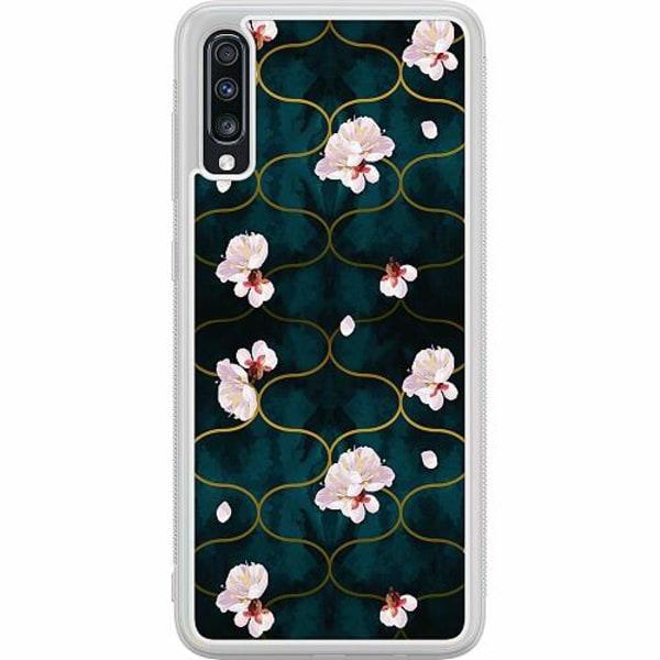 Samsung Galaxy A70 Soft Case (Frostad) Japanese Garden