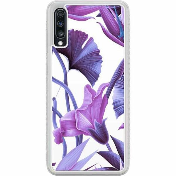 Samsung Galaxy A70 Soft Case (Frostad) Lilac Bloom