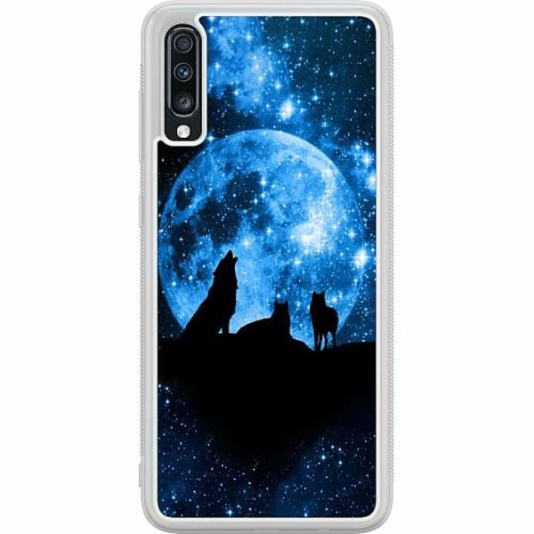 Samsung Galaxy A70 Soft Case (Frostad) Moon Wolves