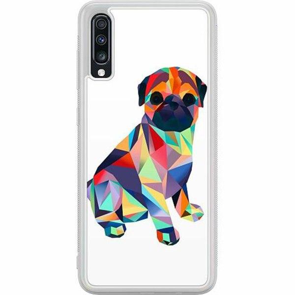 Samsung Galaxy A70 Soft Case (Frostad) Pug