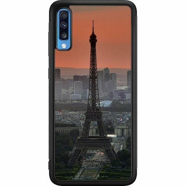 Samsung Galaxy A70 Soft Case (Svart) Pattern