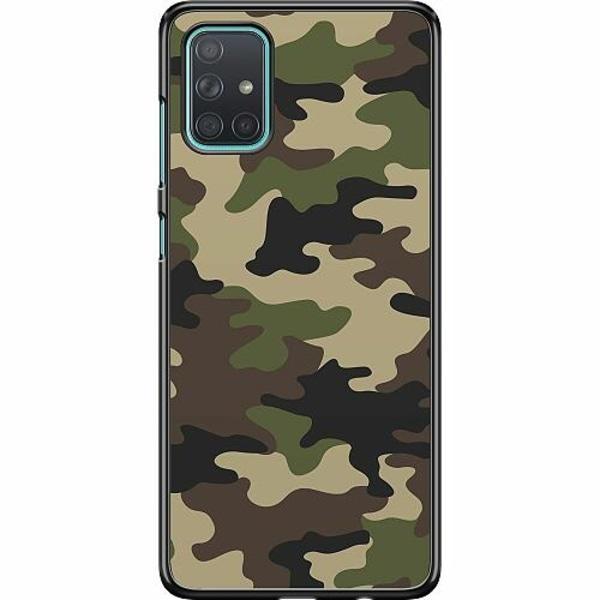 Samsung Galaxy A71 Hard Case (Svart) Militär