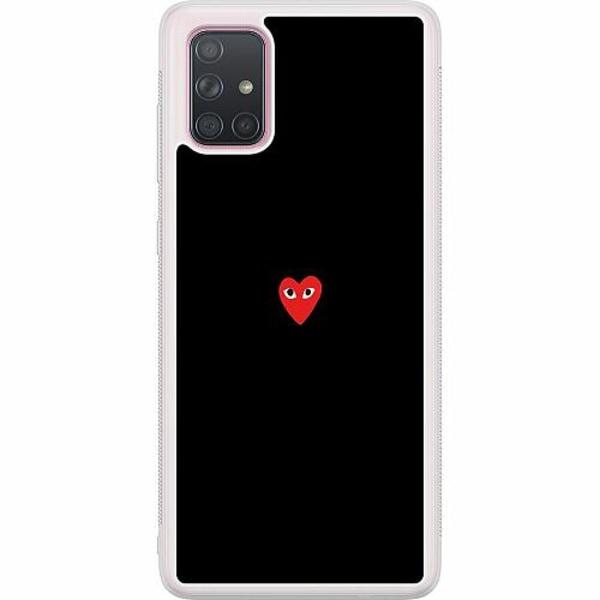 Samsung Galaxy A71 Soft Case (Frostad) Heart