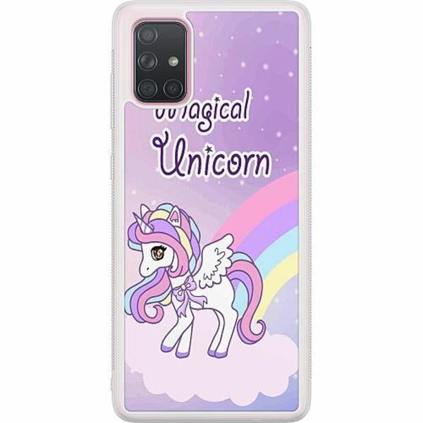 Samsung Galaxy A71 Soft Case (Frostad) UNICORN