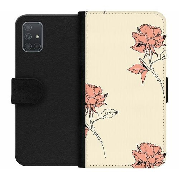 Samsung Galaxy A71 Wallet Case Thorns On Falling Roses