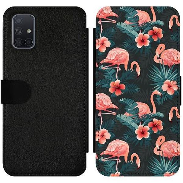 Samsung Galaxy A71 Wallet Slimcase Flamingo