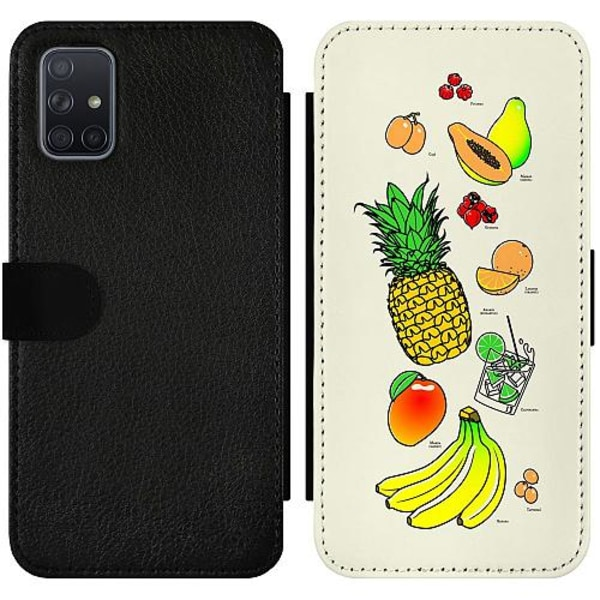 Samsung Galaxy A71 Wallet Slim Case Fruit Party