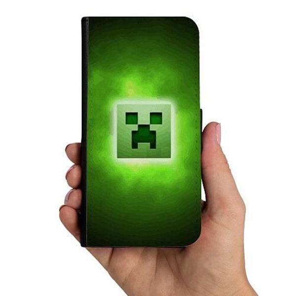 Samsung Galaxy A50 Mobilskalsväska MineCraft Rainbow