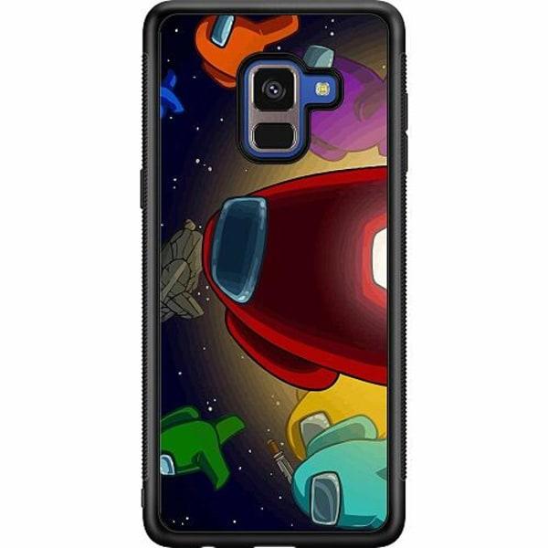 Samsung Galaxy A8 (2018) Soft Case (Svart) Among Us