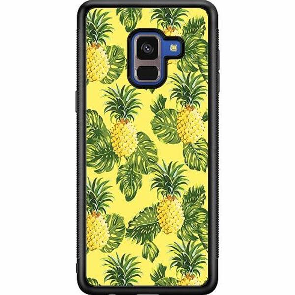 Samsung Galaxy A8 (2018) Soft Case (Svart) Ananas