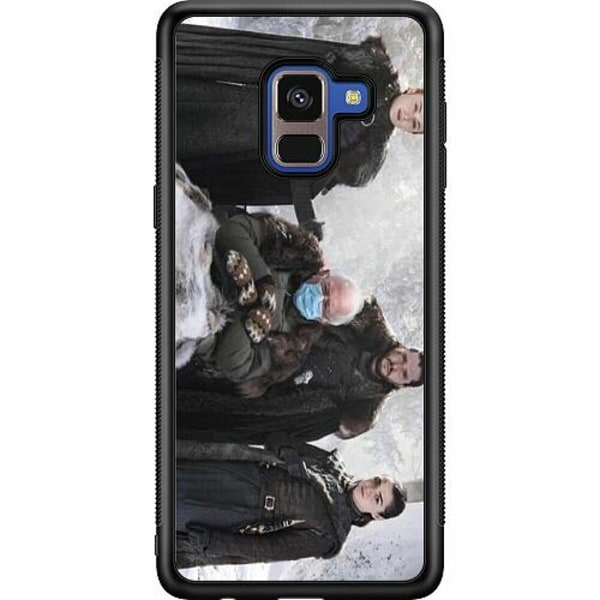Samsung Galaxy A8 (2018) Soft Case (Svart) Bernie Sanders Meme