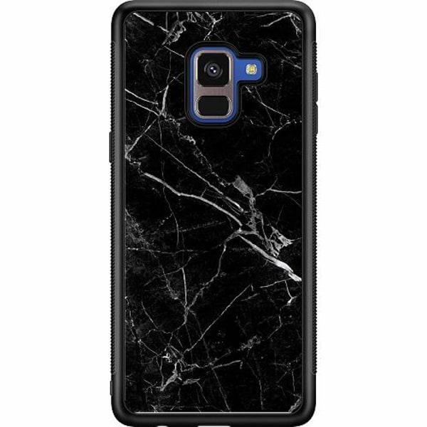 Samsung Galaxy A8 (2018) Soft Case (Svart) black marble