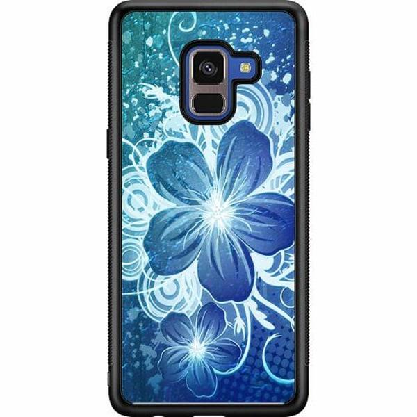 Samsung Galaxy A8 (2018) Soft Case (Svart) Blommor