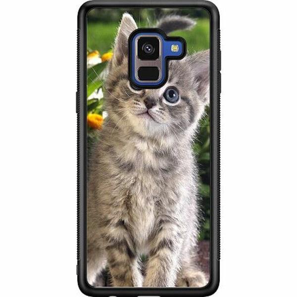 Samsung Galaxy A8 (2018) Soft Case (Svart) Cat