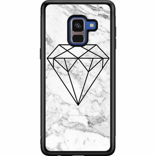 Samsung Galaxy A8 (2018) Soft Case (Svart) Diamant