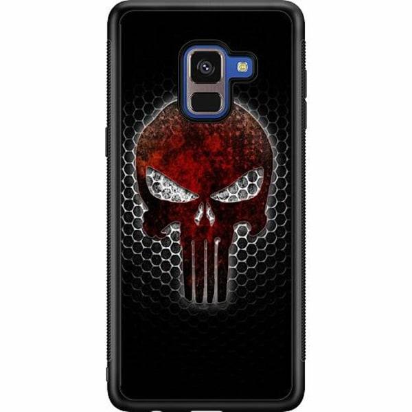Samsung Galaxy A8 (2018) Soft Case (Svart) Dödskalle