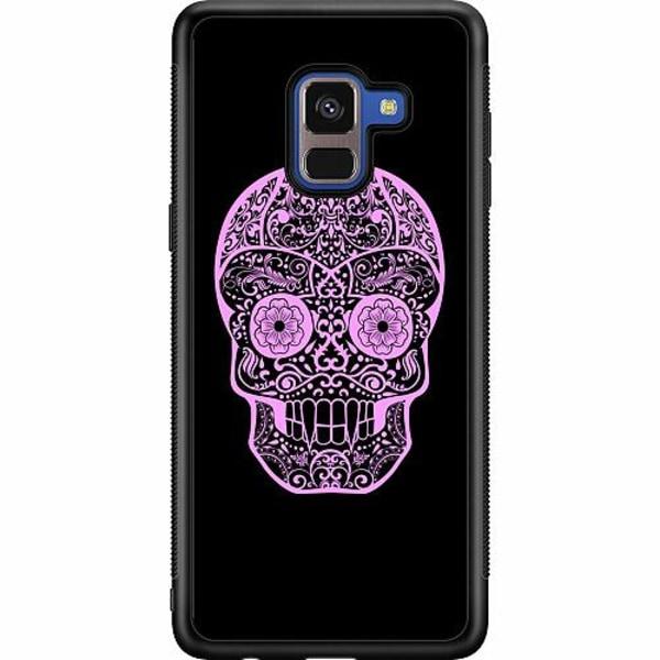Samsung Galaxy A8 (2018) Soft Case (Svart) Döskalle