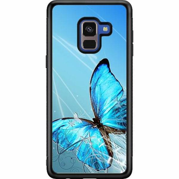 Samsung Galaxy A8 (2018) Soft Case (Svart) Fjäril