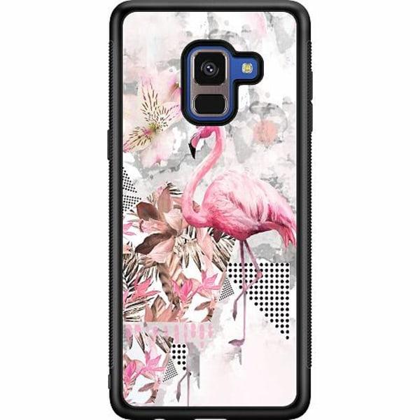 Samsung Galaxy A8 (2018) Soft Case (Svart) Flamingo