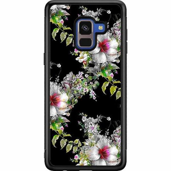 Samsung Galaxy A8 (2018) Soft Case (Svart) Flower star