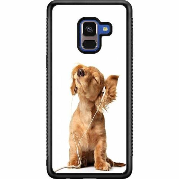 Samsung Galaxy A8 (2018) Soft Case (Svart) Hund