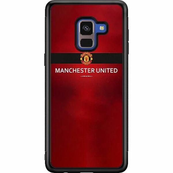Samsung Galaxy A8 (2018) Soft Case (Svart) Manchester United