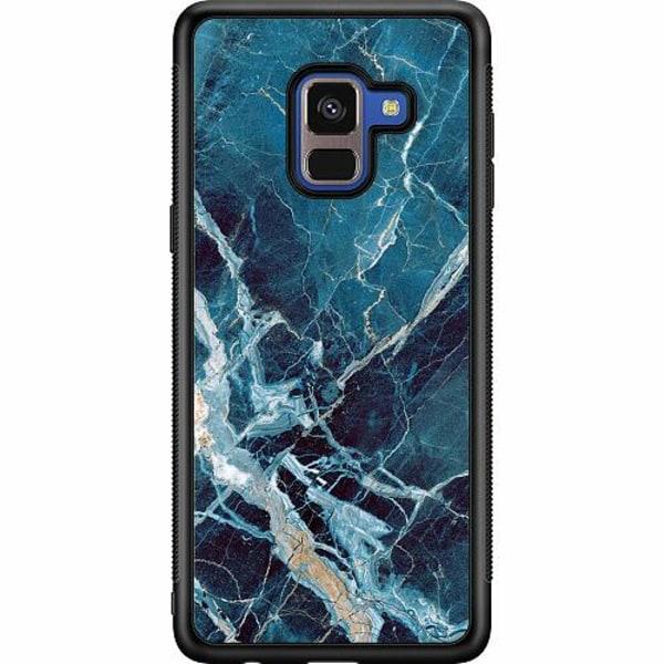 Samsung Galaxy A8 (2018) Soft Case (Svart) Marmor