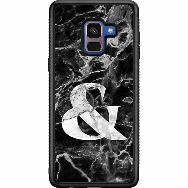 Samsung Galaxy A8 (2018) Soft Case (Svart) Marmor & Svart