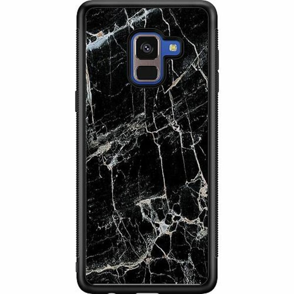 Samsung Galaxy A8 (2018) Soft Case (Svart) Marmor Svart