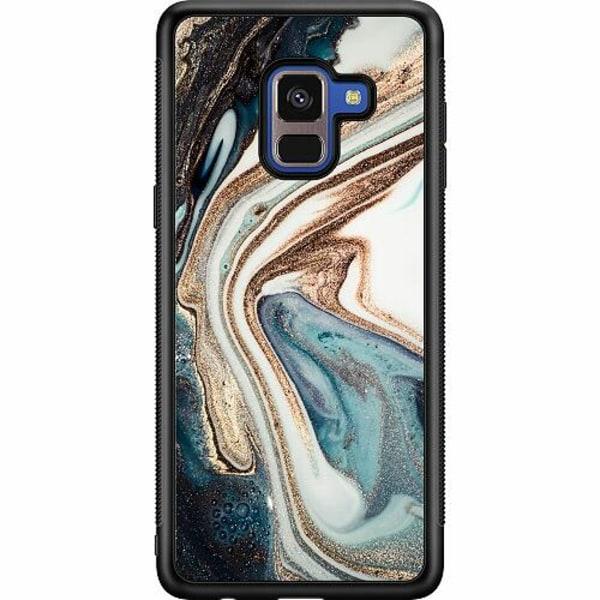 Samsung Galaxy A8 (2018) Soft Case (Svart) Mönster