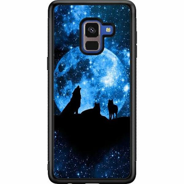 Samsung Galaxy A8 (2018) Soft Case (Svart) Moon Wolves