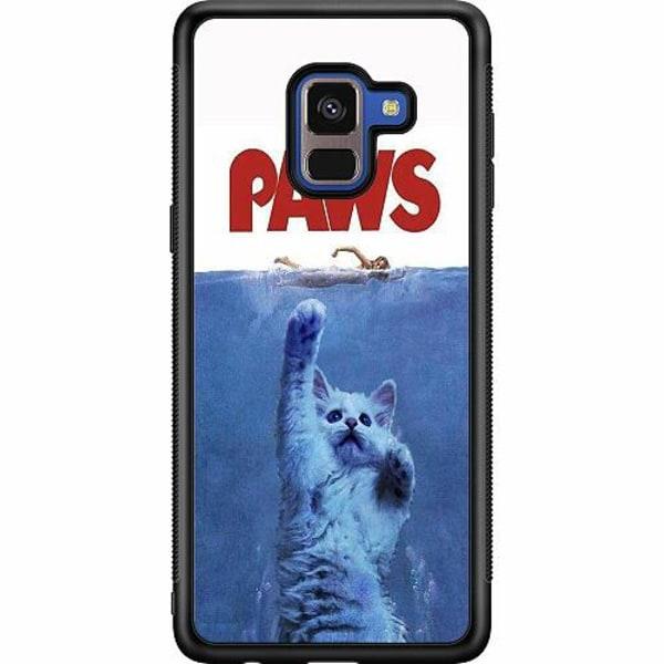 Samsung Galaxy A8 (2018) Soft Case (Svart) Paws
