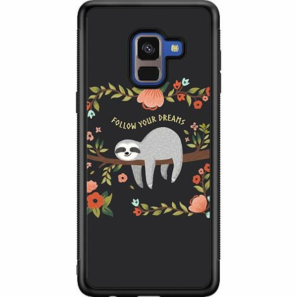 Samsung Galaxy A8 (2018) Soft Case (Svart) Sloth of wisdom