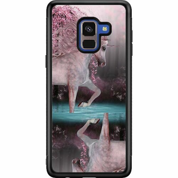 Samsung Galaxy A8 (2018) Soft Case (Svart) Unicorn