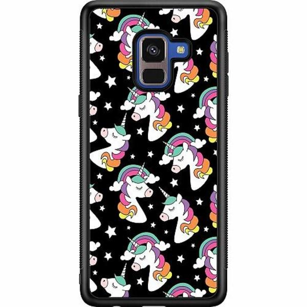 Samsung Galaxy A8 (2018) Soft Case (Svart) Unicorns Are Real