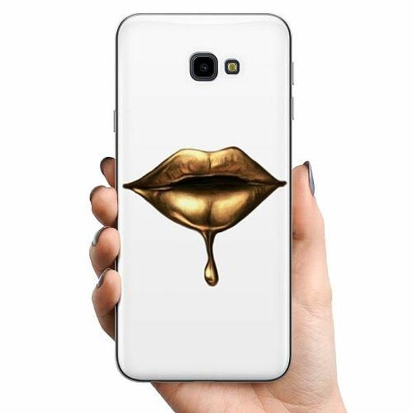 Samsung Galaxy J4 Plus (2018) TPU Mobilskal Dripping Gold
