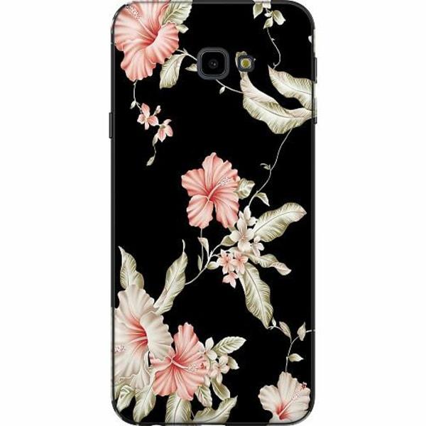 Samsung Galaxy J4 Plus (2018) TPU Mobilskal Floral Pattern Black