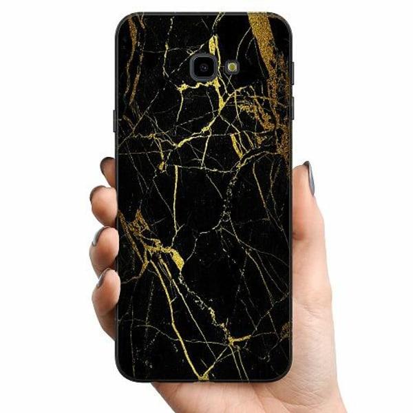 Samsung Galaxy J4 Plus (2018) TPU Mobilskal Marble Black&Gold