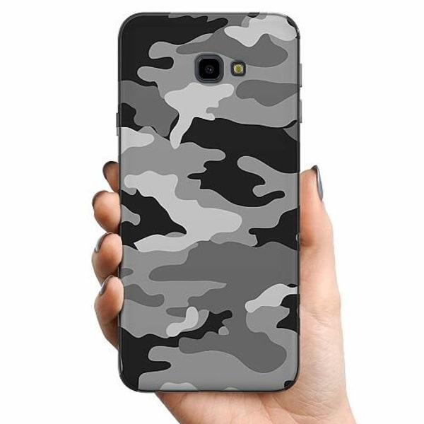 Samsung Galaxy J4 Plus (2018) TPU Mobilskal Military B/W