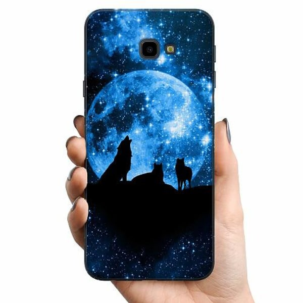 Samsung Galaxy J4 Plus (2018) TPU Mobilskal Moon Wolves