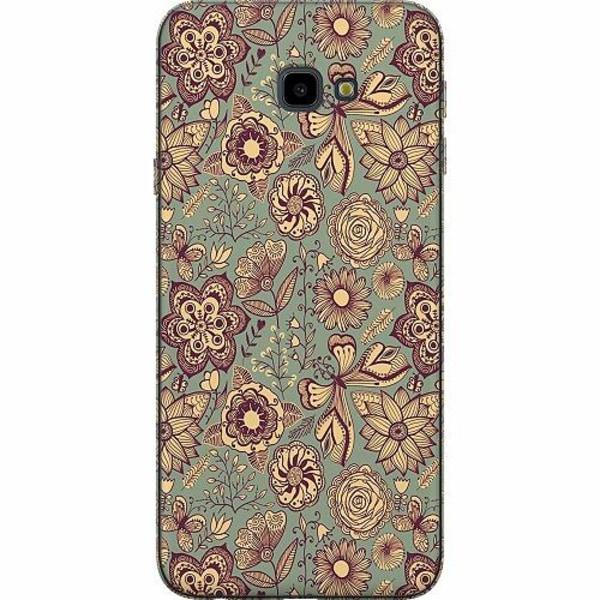 Samsung Galaxy J4 Plus (2018) TPU Mobilskal Vintage Flowers