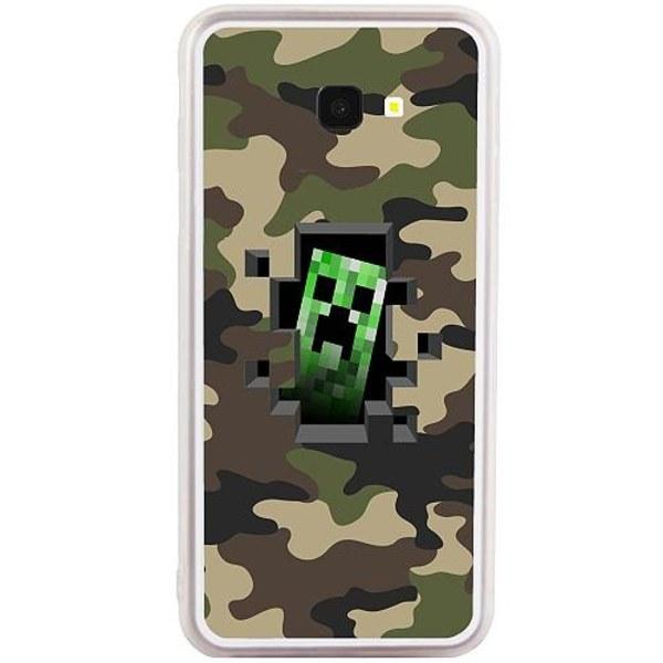 Samsung Galaxy J4 Plus (2018) Transparent Mobilskal Minecraft