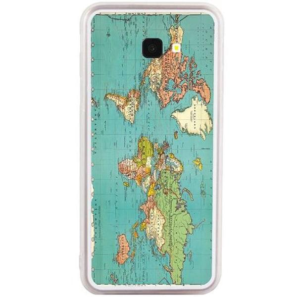 Samsung Galaxy J4 Plus (2018) Transparent Mobilskal World Map