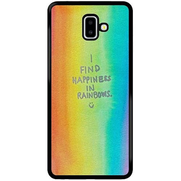 Samsung Galaxy J6 Plus (2018) Soft Case (Svart) Happiness
