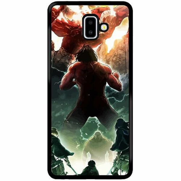 Samsung Galaxy J6 Plus (2018) Soft Case (Svart) Attack On Titan