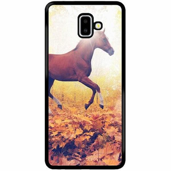 Samsung Galaxy J6 Plus (2018) Soft Case (Svart) Häst / Horse