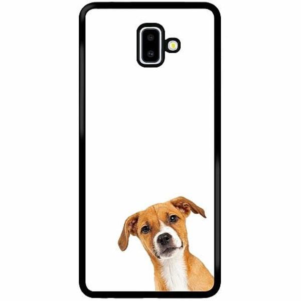 Samsung Galaxy J6 Plus (2018) Soft Case (Svart) PopUp Dog