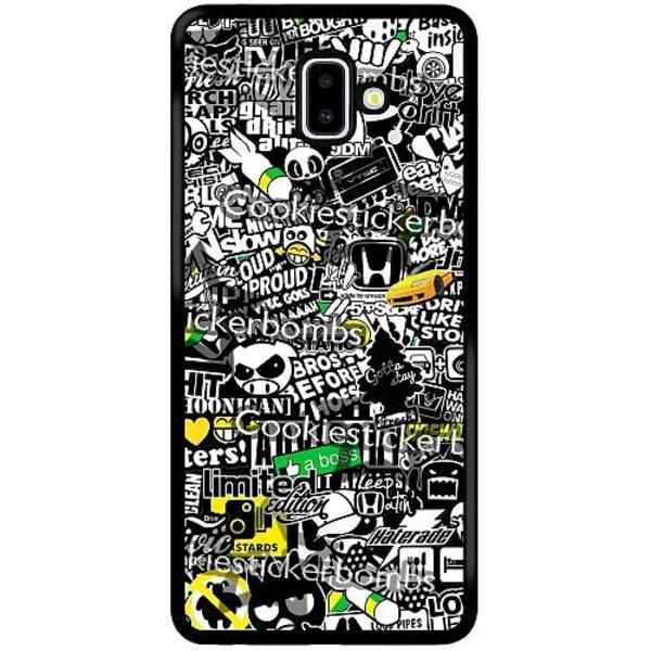 Samsung Galaxy J6 Plus (2018) Soft Case (Svart) Stickers