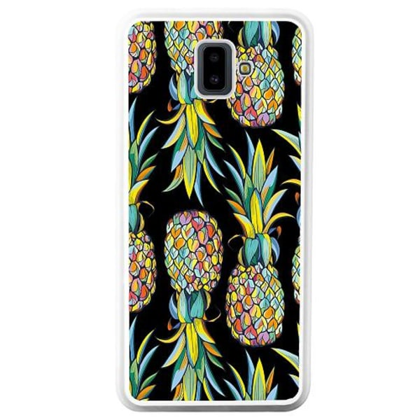 Samsung Galaxy J6 Plus (2018) Vitt Mobilskal Pendulous Pineapple